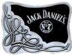 Jack Daniels Oblong Scroll Belt Buckle. Product code: WL8